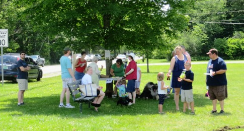 picnicers on the lawn