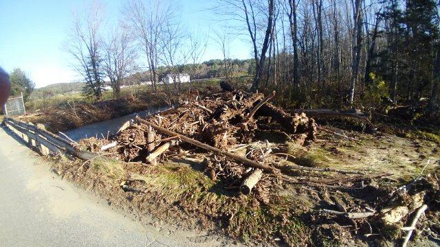 debris by bridge