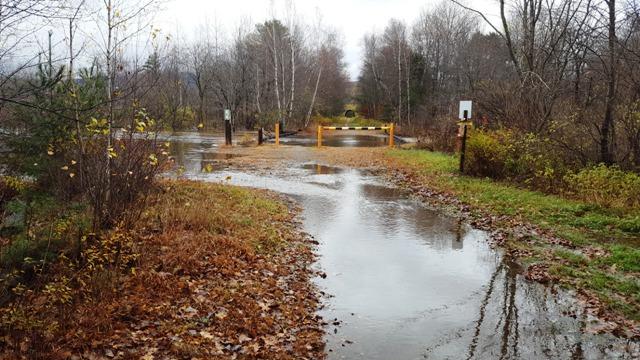 water near Rail Trail System