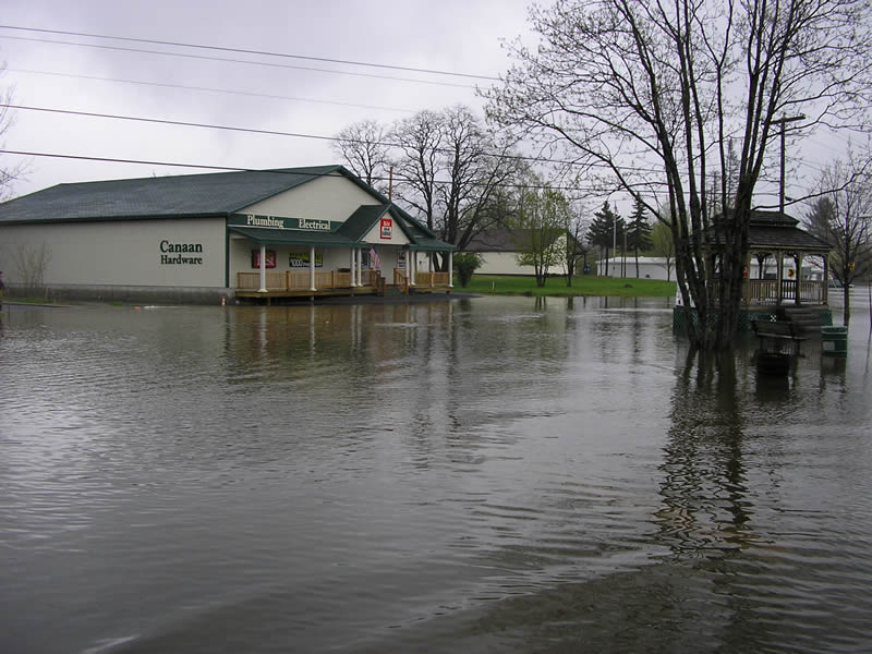 flooding over common