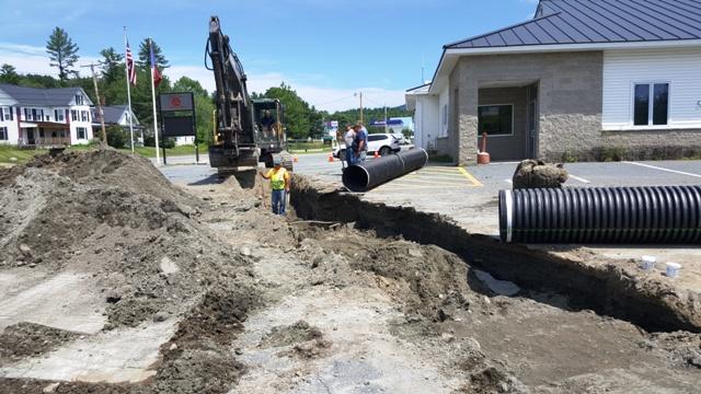 repair to water main in parking lot