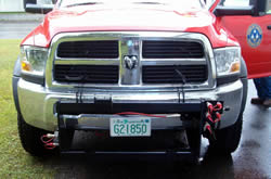 front of Dodge truck