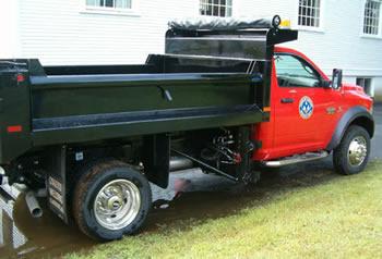 side of Dodge truck