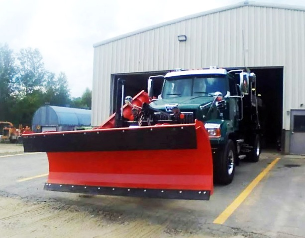 dump truck with plow