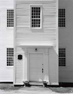 front entrance of meeting house