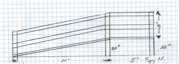 dimensional sketch of planned ramp