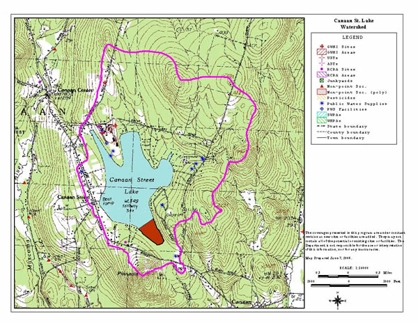 map of Canaan Lake